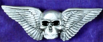 Belt Buckle with Wings and Skull