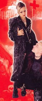 Black and Grey Fur Coat Size L