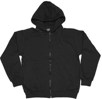 Black Hoody with Zip Size XL