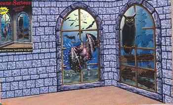 Horror Fenster Folie