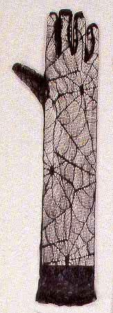 Spitzen Handschuhe im Spinnweben Look