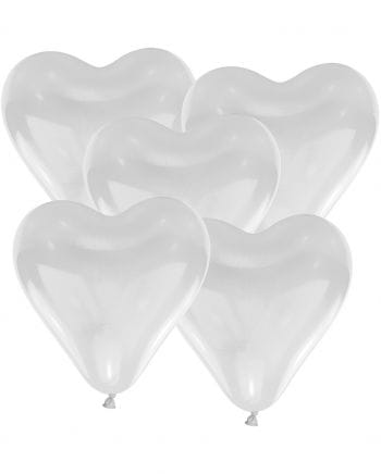Herzluftballons Weiß 50 St.