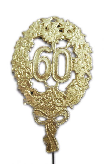 Jubilee Number 60 gold