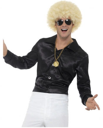 Schwarzes 60s Disco Hemd