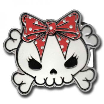 Skull Buckle red