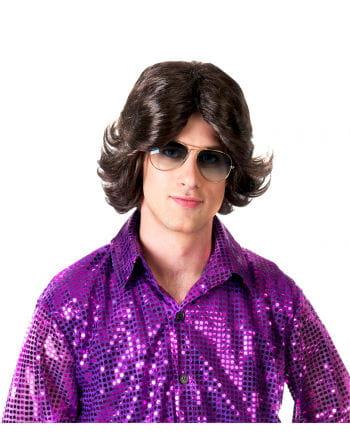 70s Dark Brown Men's Wig