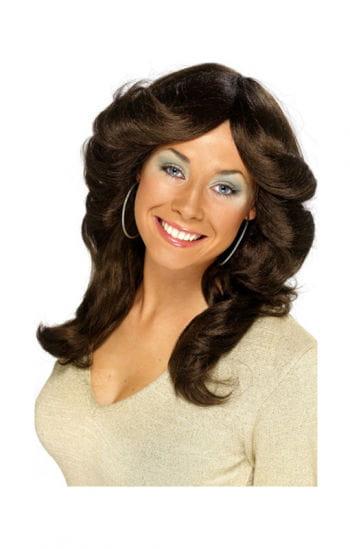 70s wig Frida brown