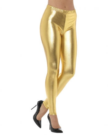 80s Disco Metallic Leggings gold