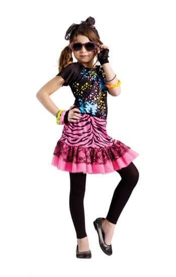 Eighties Pop Girl Kinderkostüm