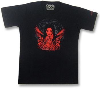 Red Angel and Heart T Shirt Gr. S