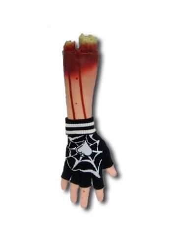 Fingerlose Handschuhe mit Spinnweben Motiv