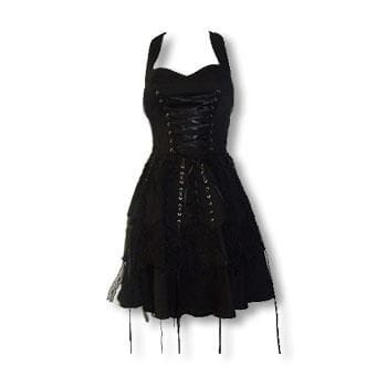 black gothic lace dress XL