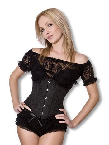 Gothic Corset with Brocade L
