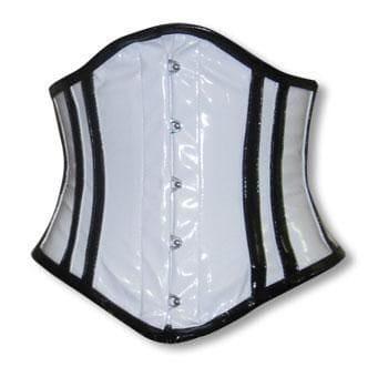 PVC Corset White and Black S