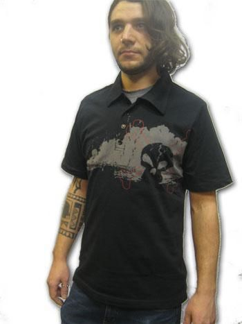 Dark Skull Polo Shirt Gr. L