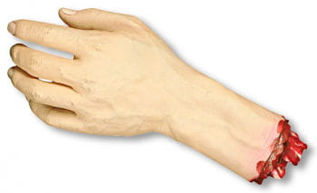 Abgetrennte Hand links