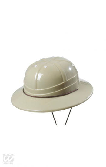 Pith helmet made of plastic