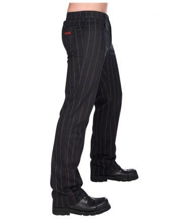 Steampunk Jeans mit Streifen