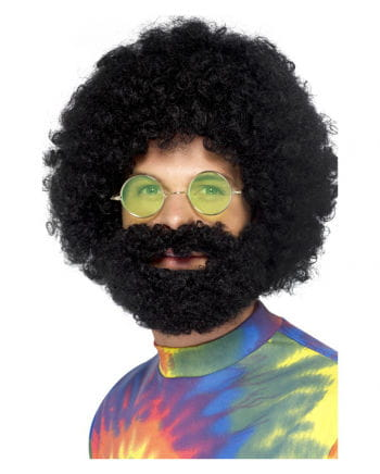 70s afro wig with beard