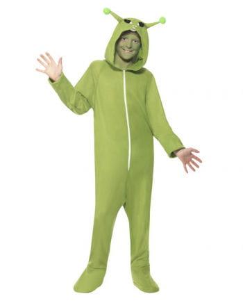 Grüner Außerirdischer Kinderkostüm