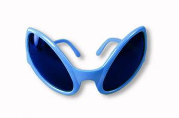 blaue Alien Sonnenbrille