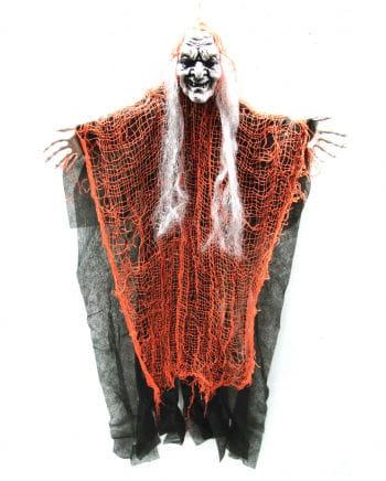 Fetzen Hexe Hängedeko orange 67cm
