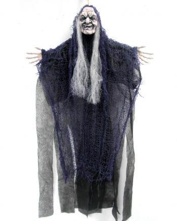 Fetzen Hexe Hängedeko violett 67cm