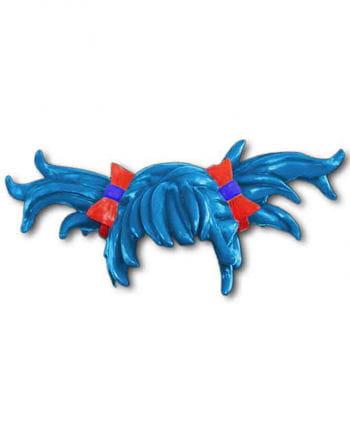 Anime Perücke Zöpfe blau
