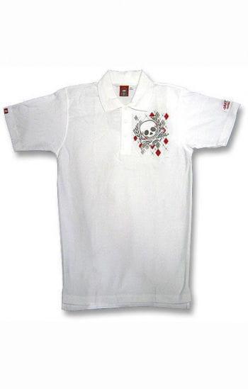 Argyl Diamond and Skull Polo Shirt S
