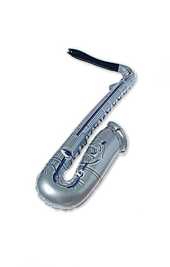 Inflatable saxophone silver