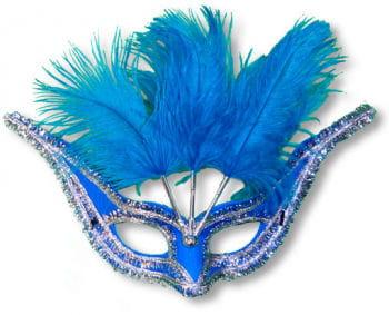 Augenmaske Venezia blau