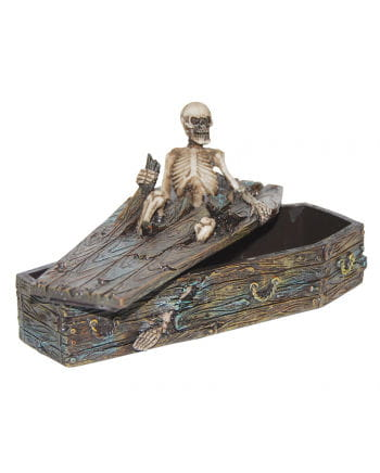 Erupting Skeleton in Coffin Box
