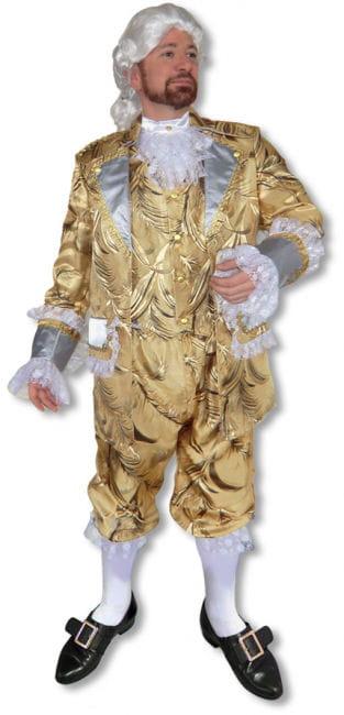 Barock Kostüm Anzug gold Deluxe
