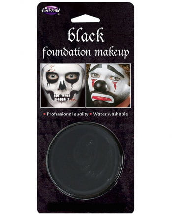 Halloween makeup base black