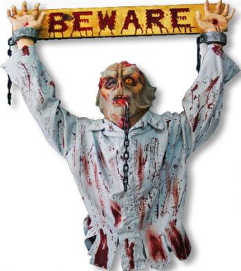 Beware Schild