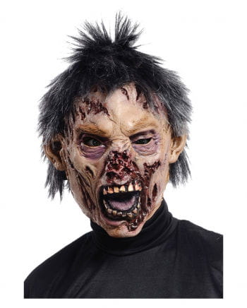 Biter Zombie Mask with Hair
