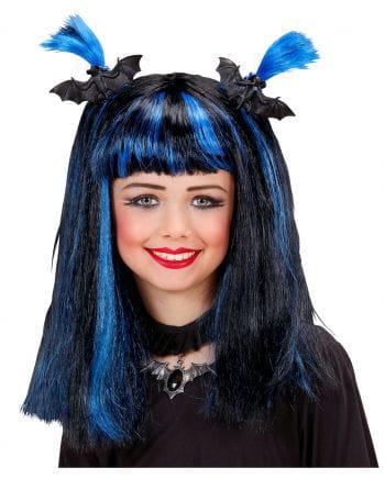 Halloween Kinderperücke blau