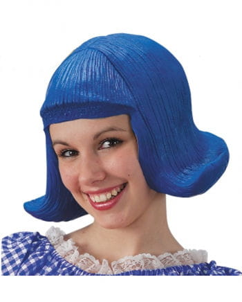 Comic Lady Perücke Latex Blau