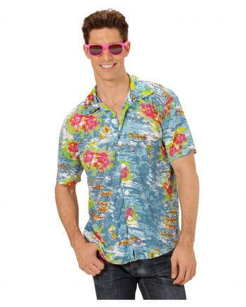 Hawaii Hemd Blau ML