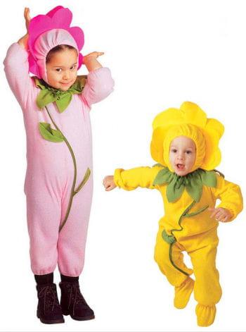 Blümchen Kleinkinder-Kostüm rosa