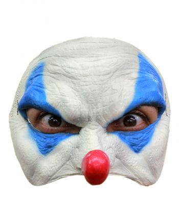 Blaue Clown Halbmaske