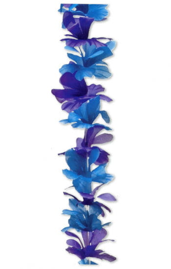 Flower necklace blue / purple