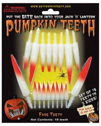 Blutige Kürbis Zähne