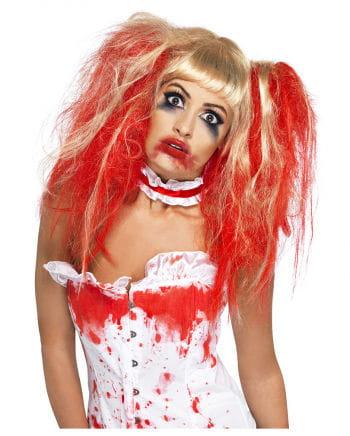 Blutige Horror Mädchen Perücke