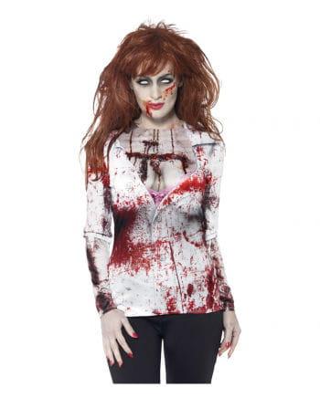 Blutiges Zombie Lady Longshirt