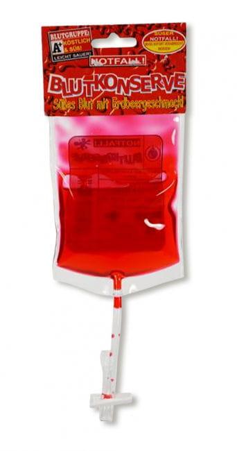 Blutkonserve mit Erdbeer-Geschmack