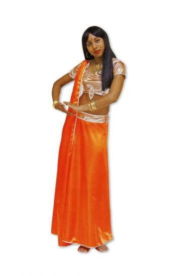 Orangenes Bollywood Kostüm