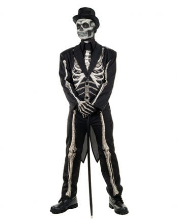 Skelett Frack Kostüm Anzug
