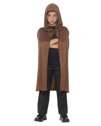 Hooded Cape for Kids brown