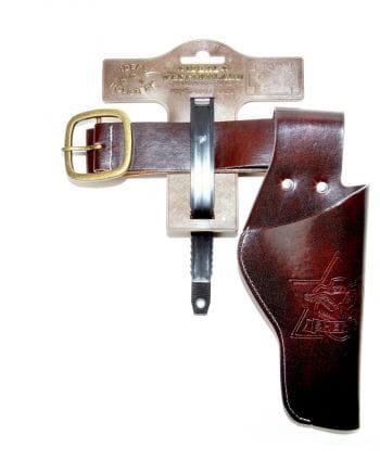 Brauner Pistolenholster mit Gürtel